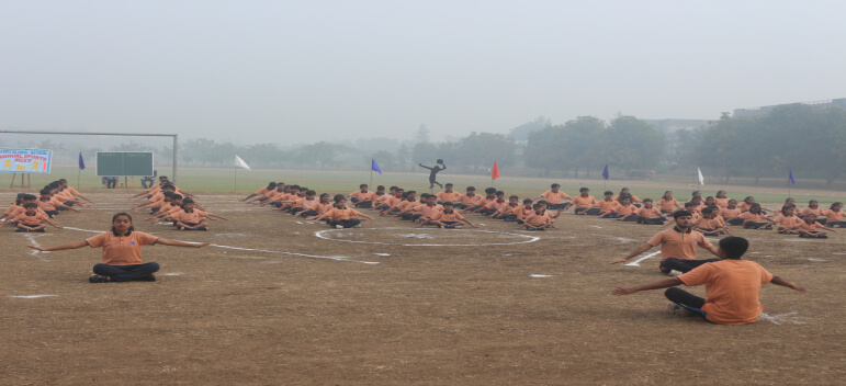 Its Mass Drill in Boarding Schools of India
